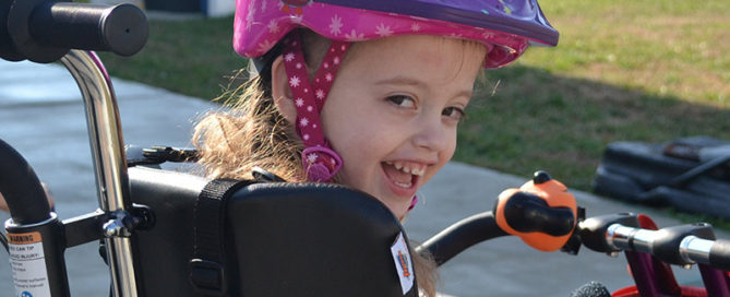 Jillian on DCP12 Adaptive Tricycle