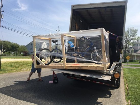 The ET2611 Tandem Bicycle Arriving at Tommy's House