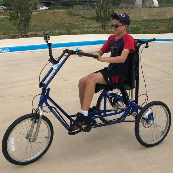 Jordan Rides His Freedom Concepts AS2000 Adaptive Bicycle